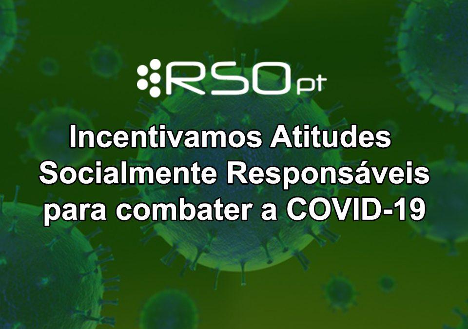 Rede RSO PT adota e incentiva atitudes socialmente responsáveis para combater o COVID-19